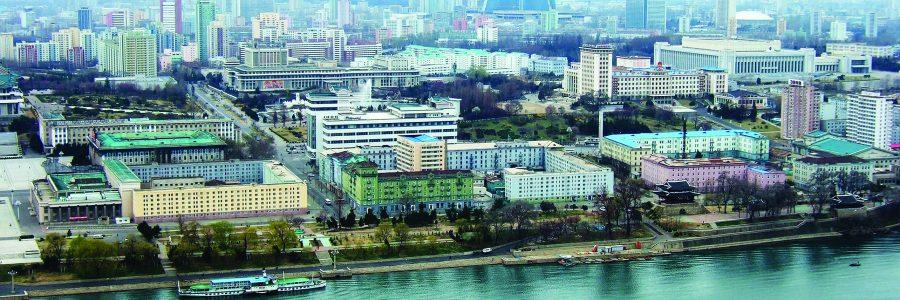 Вид на Пхеньян - столицу Северной Кореи