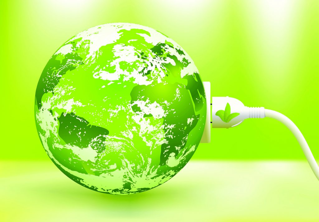 abstract green Earth energy concept