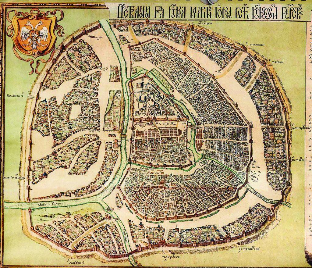 Петров чертеж - карта Москвы 1597 года