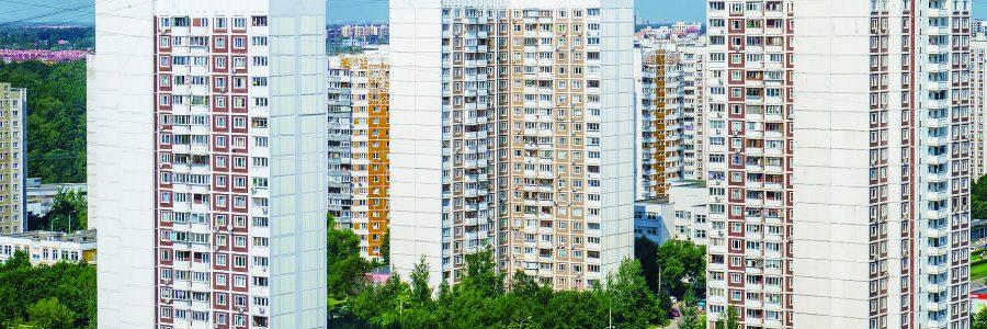 Москва, Митино, многоэтажные дома серии КОПЭ в Ангеловом переулке